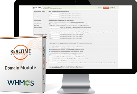 WHMCS Realtime register